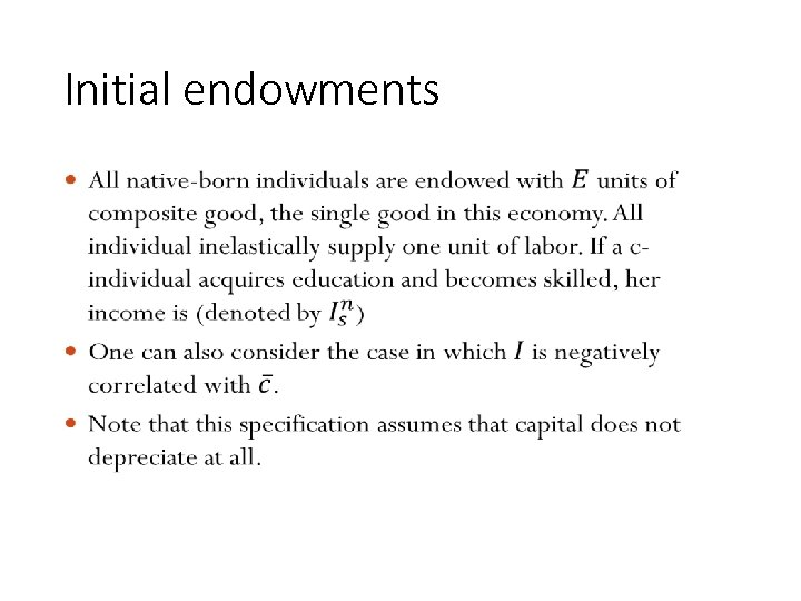 Initial endowments • 124