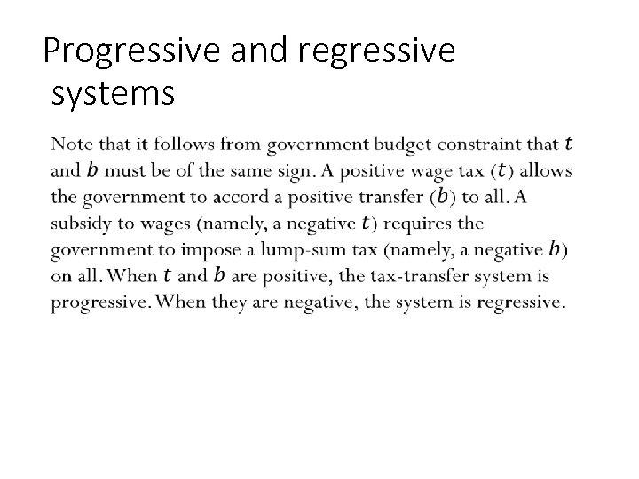Progressive and regressive systems • 131