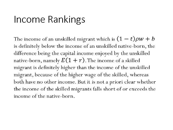 Income Rankings • 168