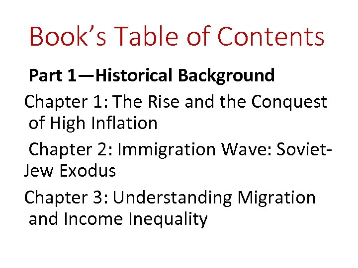 Book's Table of Contents Part 1—Historical Background Chapter 1: The Rise and the Conquest