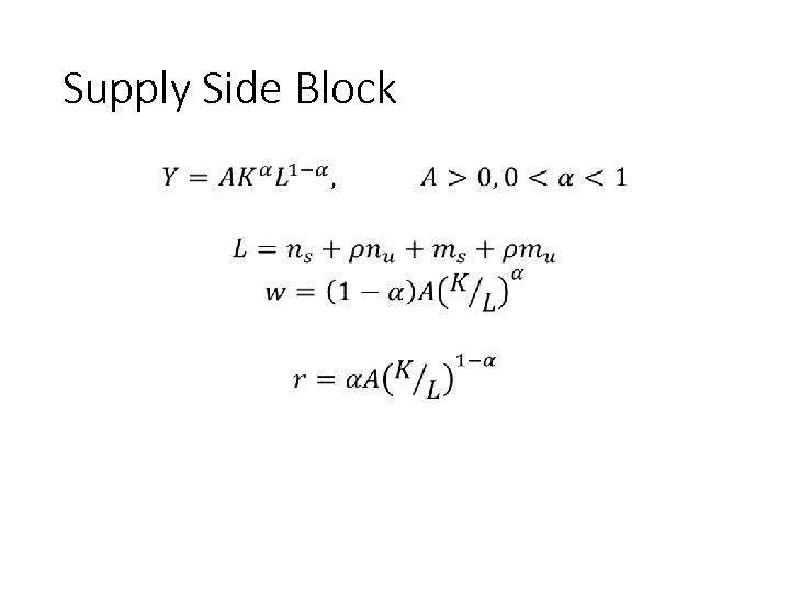 Supply Side Block • 91