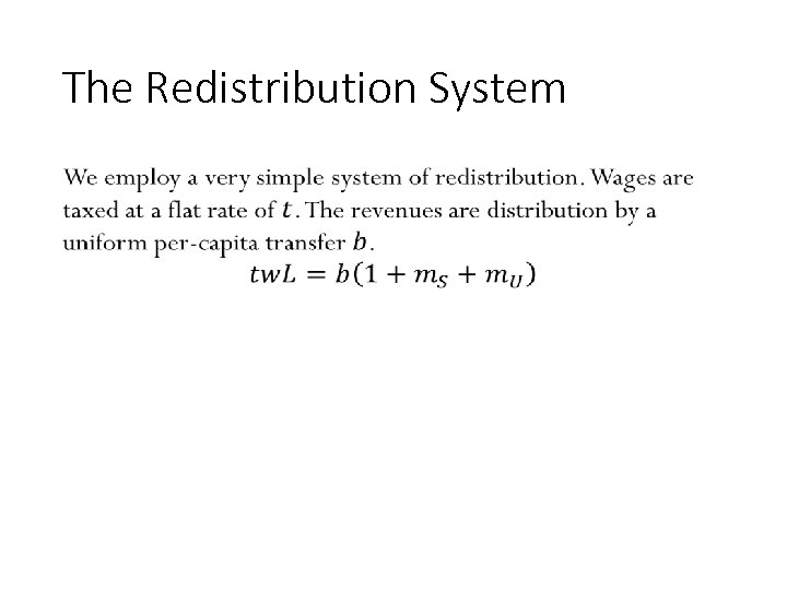 The Redistribution System • 92