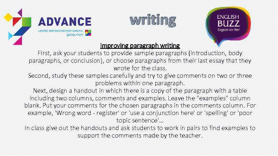 mosaic 1 writing paragraph review & essay development Wwwck12orgconcept 1 persuasive essay  your creative juices in the actual writing of  a strong introductory paragraph is crucial to the development of an.