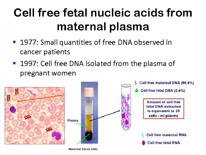 Cell free fetal nucleic acids from maternal plasma § 1977: Small quantities of free