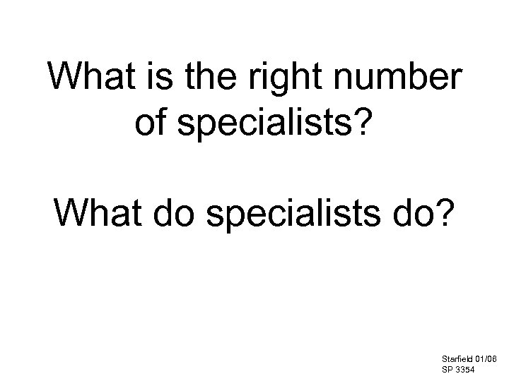 What is the right number of specialists? What do specialists do? Starfield 01/06 SP