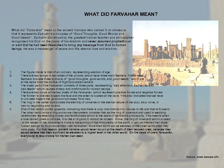 WHAT DID FARVAHAR MEAN? What did