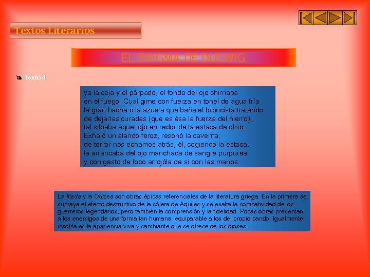 Textos Literarios EL ENIGMA DE DULWIG Texto 4 ya la ceja y el párpado;