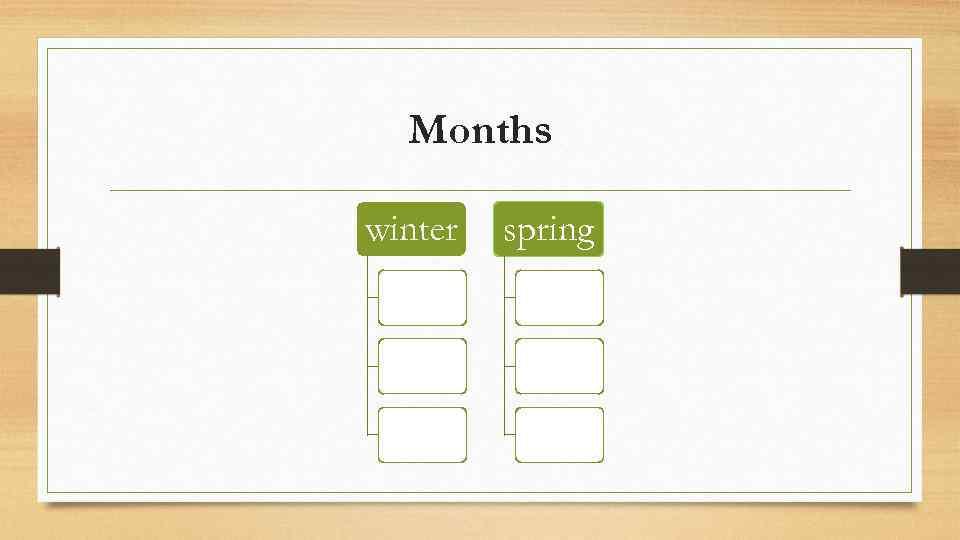 Months winter spring