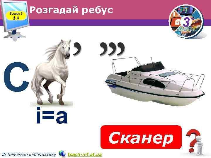Розділ 2 § 6 Розгадай ребус С і=а © Вивчаємо інформатику teach inf. at.