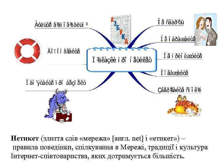 Нетикет (злиття слів «мережа» [англ. net] і «етикет» ) – правила поведінки, спілкування в