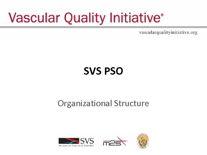 SVS PSO Organizational Structure