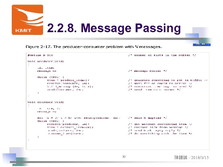 2. 2. 8. Message Passing 30 陳鍾誠 - 2018/3/15