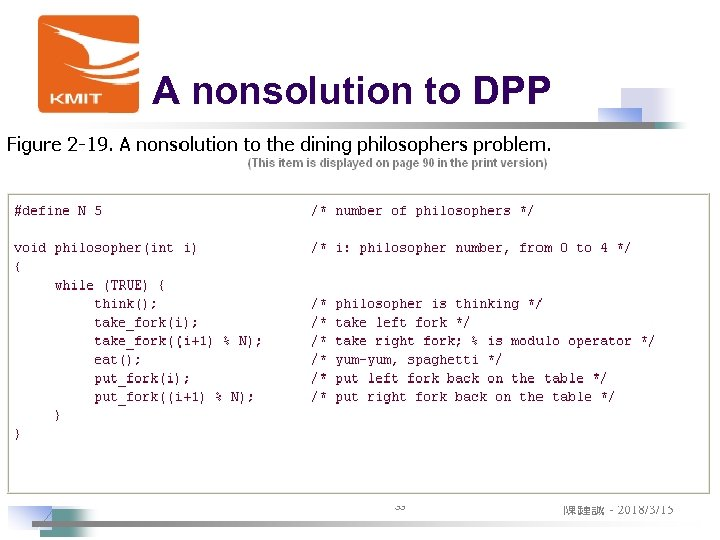 A nonsolution to DPP 33 陳鍾誠 - 2018/3/15