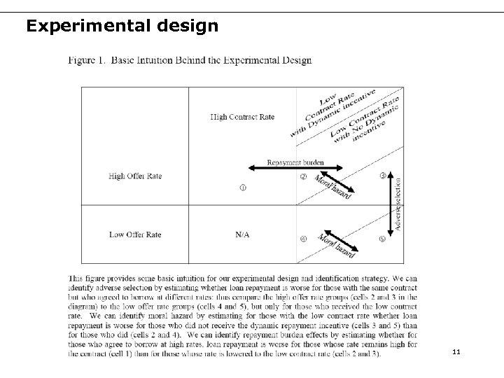 Experimental design 11
