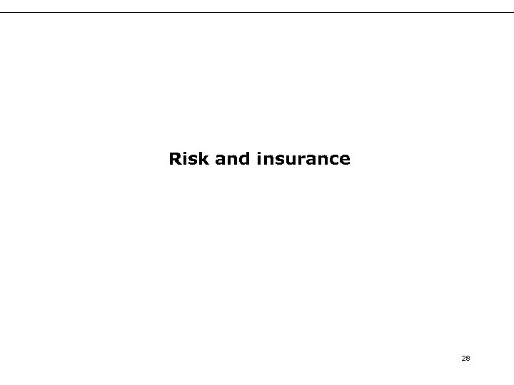 Risk and insurance 28