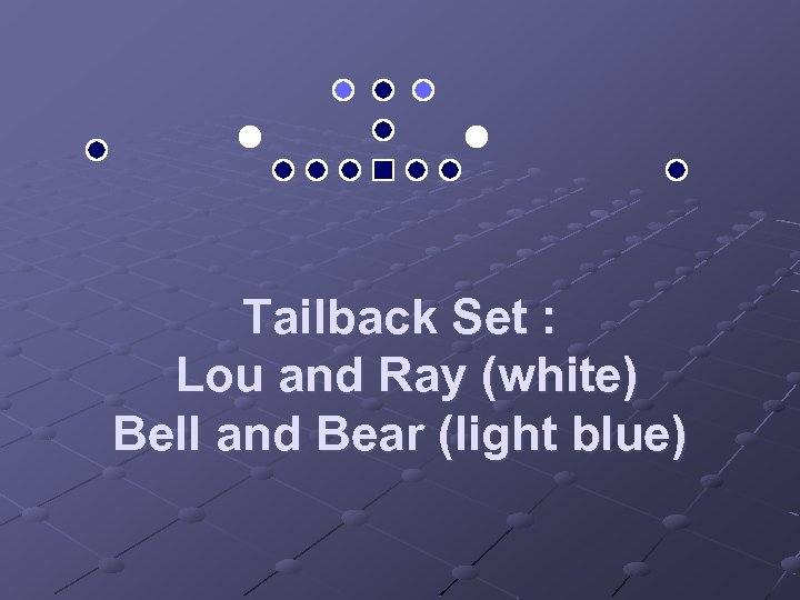 Tailback Set : Lou and Ray (white) Bell and Bear (light blue)