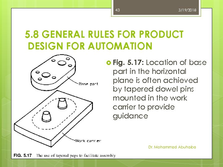 43 3/19/2018 5. 8 GENERAL RULES FOR PRODUCT DESIGN FOR AUTOMATION Fig. 5. 17: