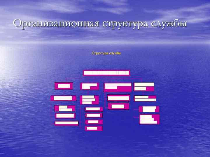Организационная структура службы