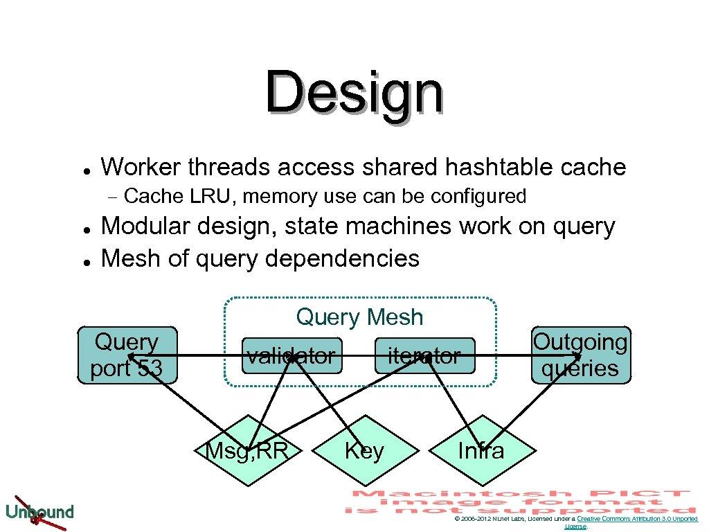 Design l Worker threads access shared hashtable cache − l l Cache LRU, memory