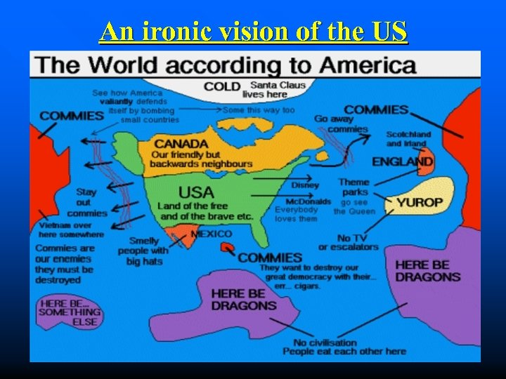 An ironic vision of the US