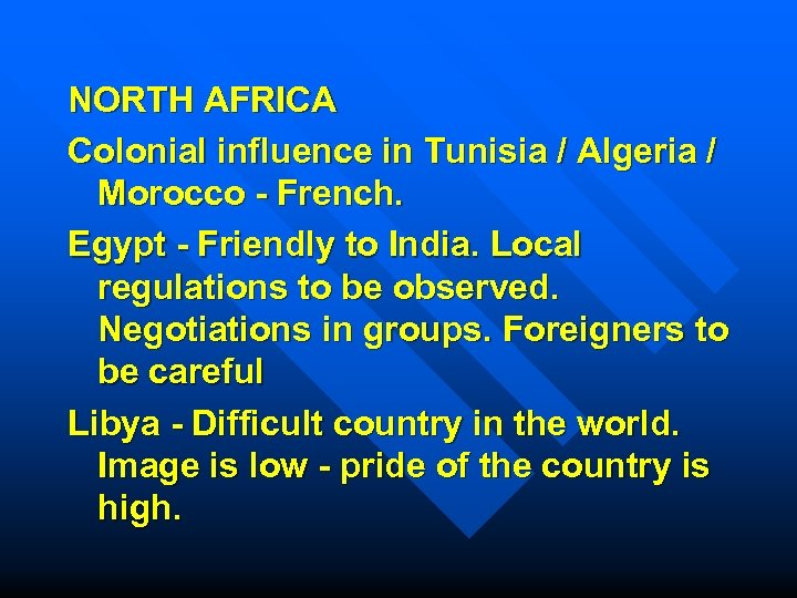 NORTH AFRICA Colonial influence in Tunisia / Algeria / Morocco - French. Egypt -