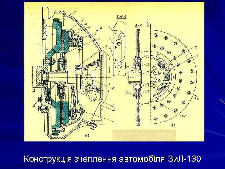 Конструкція зчеплення автомобіля Зи. Л-130