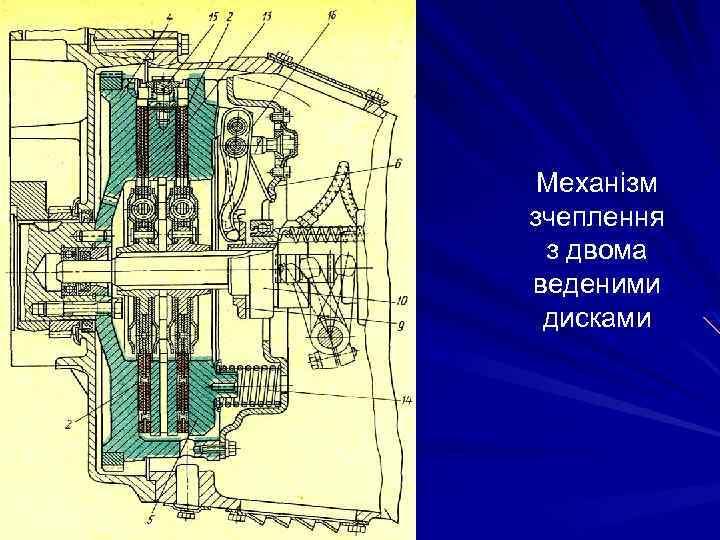 Механізм зчеплення з двома веденими дисками