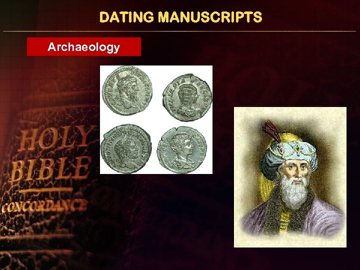 DATING MANUSCRIPTS Archaeology