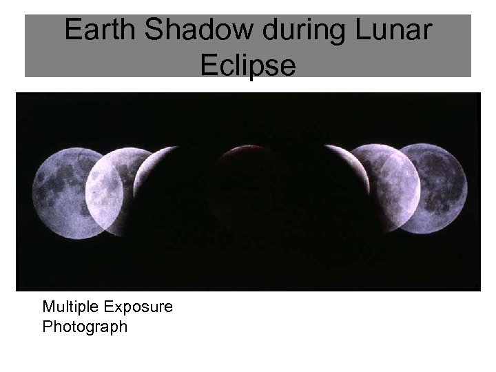 Earth Shadow during Lunar Eclipse Multiple Exposure Photograph