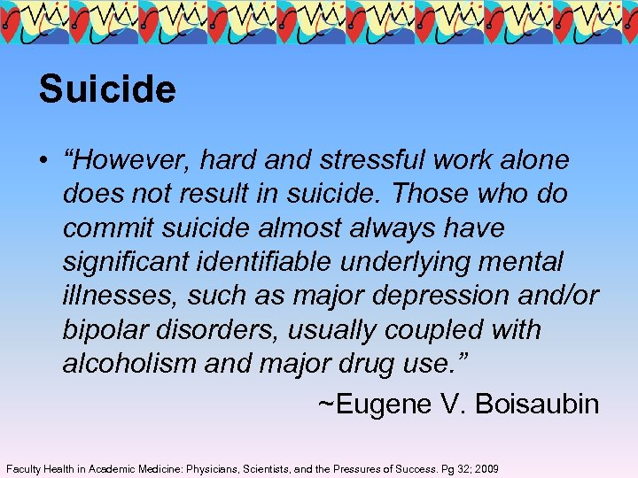 "Suicide • ""However, hard and stressful work alone does not result in suicide. Those"