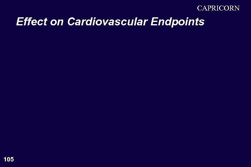 CAPRICORN Effect on Cardiovascular Endpoints 105