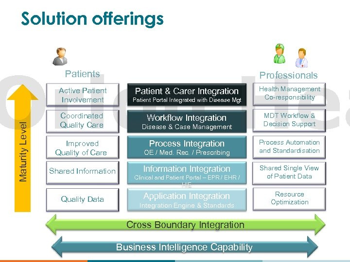 Clinical process maturity model in Healthcare Solution offerings Organizations Orion Hea Patients Maturity Level
