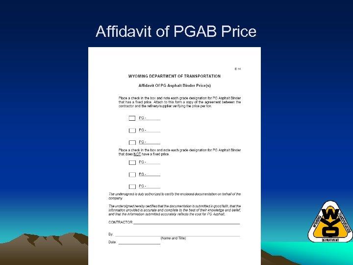 Affidavit of PGAB Price