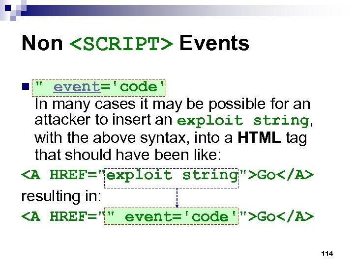 Non <SCRIPT> Events