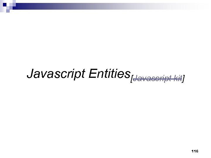 Javascript Entities[Javascript kit] 116