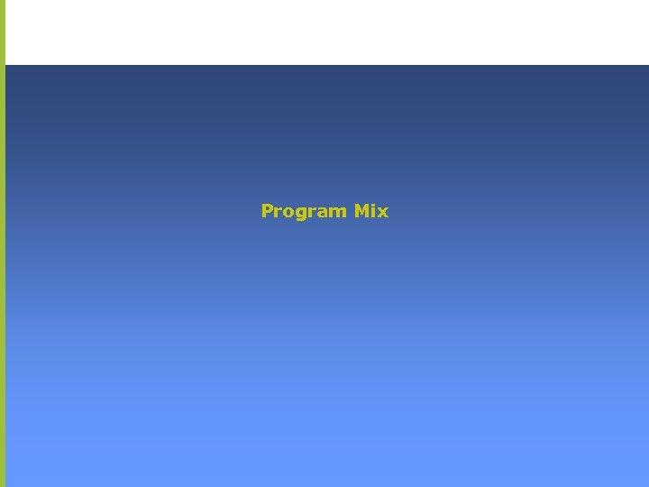 Program Mix