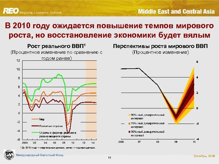 В 2010 году ожидается повышение темпов мирового роста, но восстановление экономики будет вялым Рост