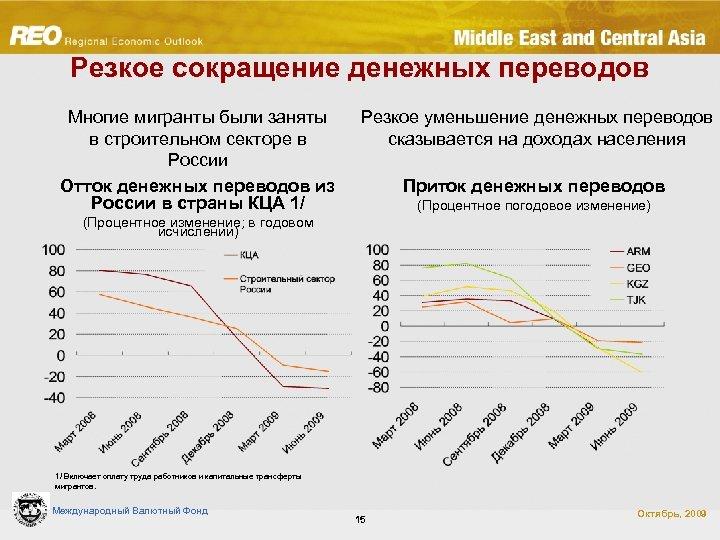 Резкое сокращение денежных переводов Многие мигранты были заняты в строительном секторе в России Отток