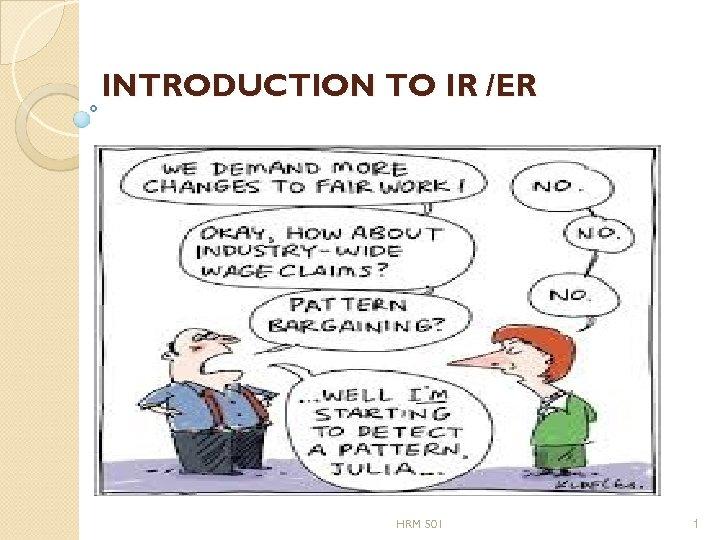 INTRODUCTION TO IR /ER HRM 501 1