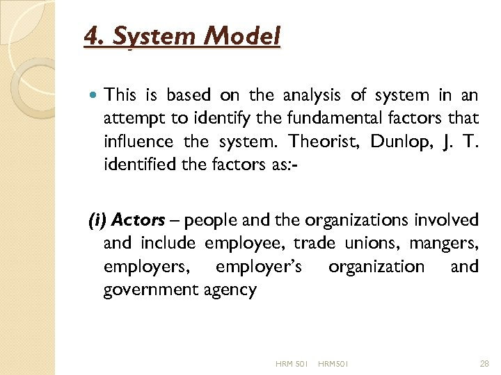4. System Model This is based on the analysis of system in an attempt
