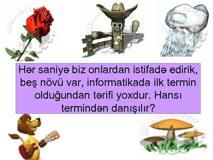 Hər saniyə biz onlardan istifadə edirik, beş növü var, informatikada ilk termin olduğundan tərifi