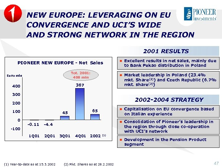 NEW EUROPE: LEVERAGING ON EU CONVERGENCE AND UCI'S WIDE AND STRONG NETWORK IN THE
