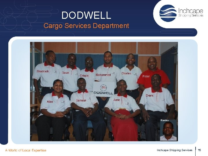 DODWELL Cargo Services Department Inchcape Shipping Services 15
