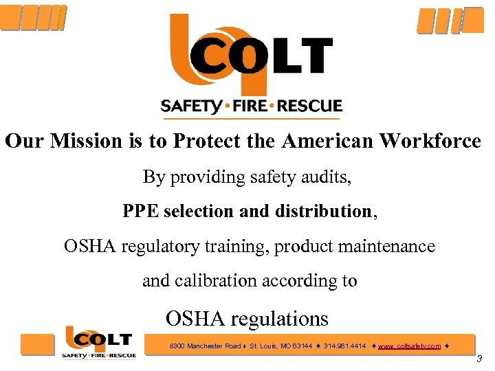 Our Mission is to Protect the American Workforce By providing safety audits, PPE selection