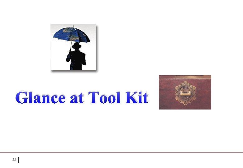 Glance at Tool Kit 22
