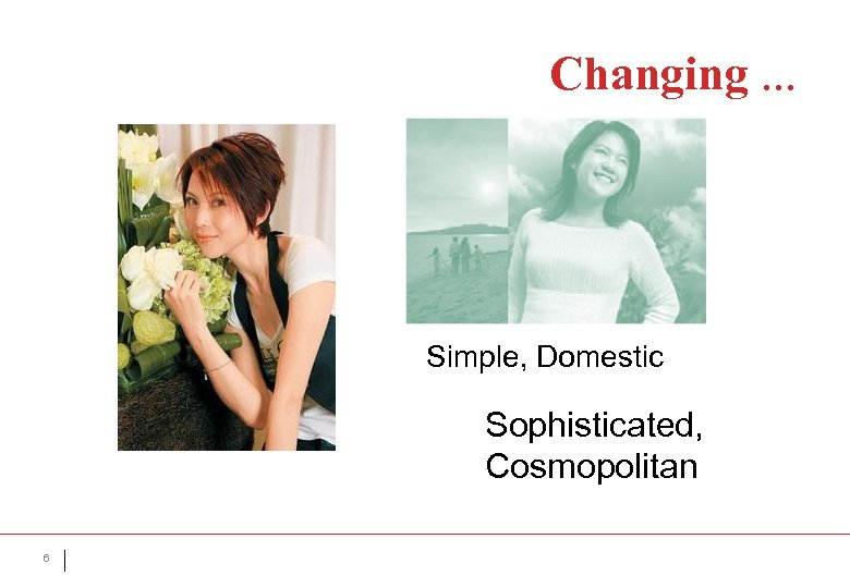 Changing. . . Simple, Domestic Sophisticated, Cosmopolitan 6