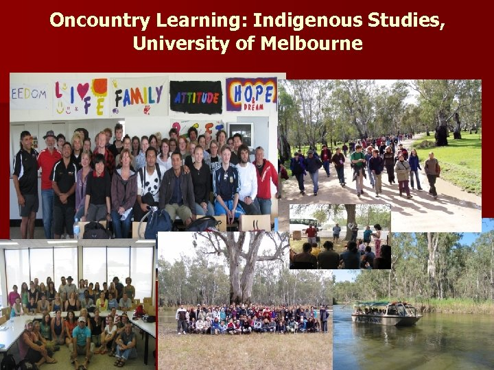 Oncountry Learning: Indigenous Studies, University of Melbourne