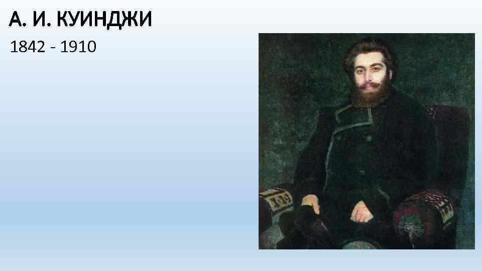 А. И. КУИНДЖИ 1842 - 1910