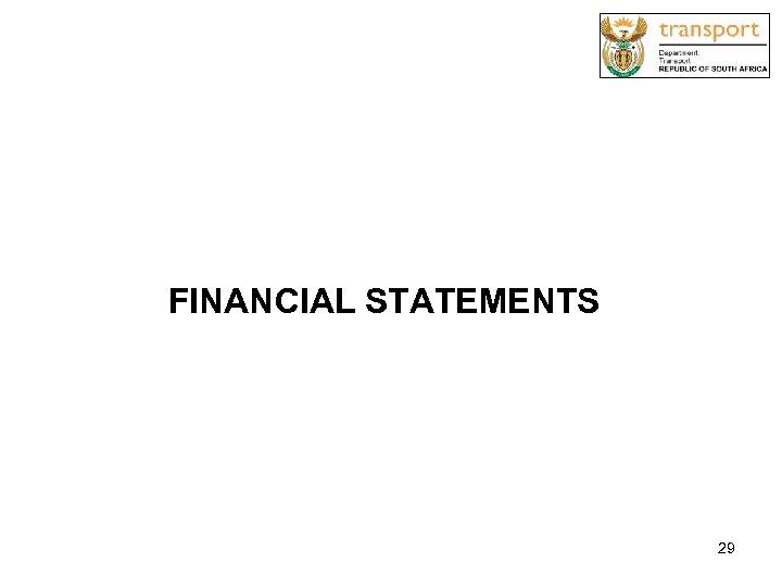 FINANCIAL STATEMENTS 29