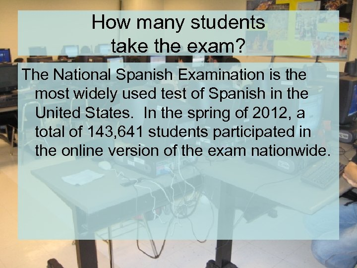 How many students take the exam? The National Spanish Examination is the most widely